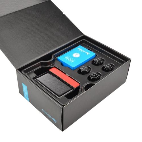 Steelmate ET-640AE DIY TPMS Système de surveillance de la pression des pneus de voiture avec écran LCD 4 capteurs de soupape Bar PSI Unit