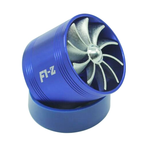 Universal Fuel Gas Saver Air Filter Intake Single Supercharger Turbine Turbo Fan