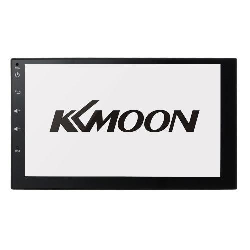 KKmoon 2 Din HD Écran Tactile Stéréo Radio Lecteur GPS Navigation Multimédia Système de Divertissement WiFi BT AM / FM Android 5.1