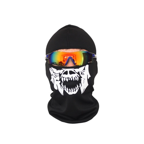 Respiratory Breathable Mask Protective Sports Headgear Multifunctional Skull Motorcycle Biker Mask Helmet