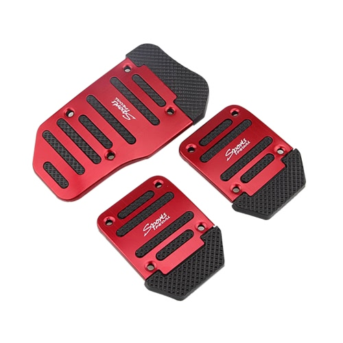 AT 3pcs/2pcs Automatic Car Auto Vehicle Non-slip Pedal Foot Treadle Brake Cover Pad Aluminium Alloy