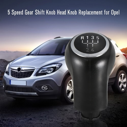 5 Speed ​​Gear Shift Knob Head Knob Substituição para Opel