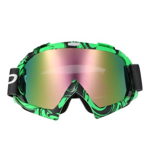 Lunettes de ski de randonnée à ski de fond à champignons à champignons Championnat de vélo à membrane à semi-perméable à la mode Verres verts et transparents