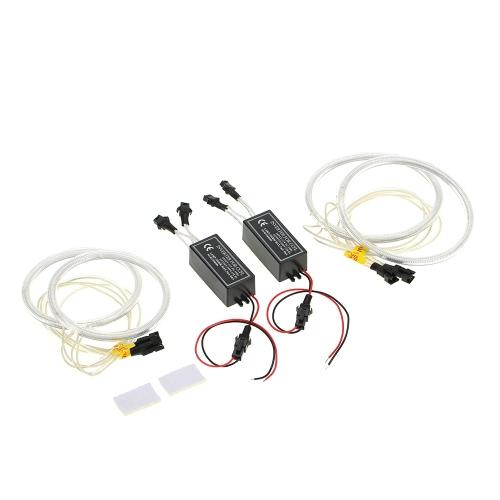 Réflecteur d'anneau halo auto brillant Super brillant CCFL Kit de lumière ange de l'anneau Bande de tube Feux de jour Feu de signalisation de signalisation