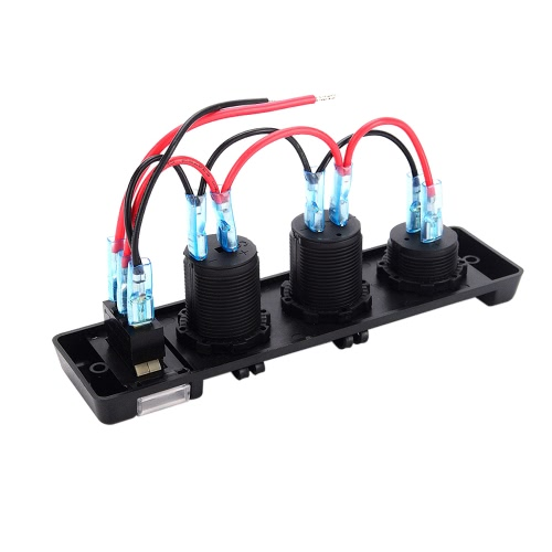 3 en 1 Marine Boat Car 3.1A Dual USB Port Cigarette 12V-24V Power Switch