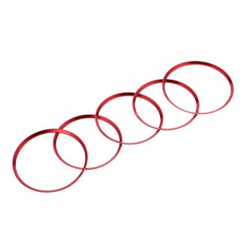 5pcs Air Vent Outlet Ring Cover Trim for Mercedes Benz CLA C117 CLA180 CLA200 CLA250 X156 GLA GLA200 GLA220
