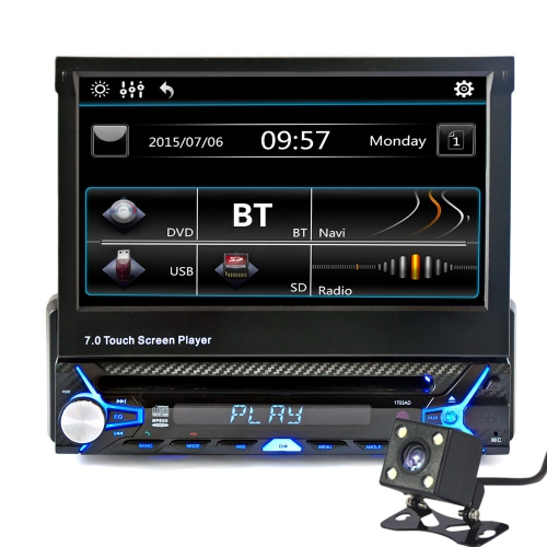"7 ""Single Din Audio Vidéo Audio MP5 Player avec caméra de recul"