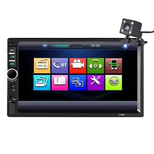 7 inch Touch Screen HD Radio MP3 MP5 Player 7018B 2DIN Car Radio BT Audio Stereo USB  with Rear View Camera
