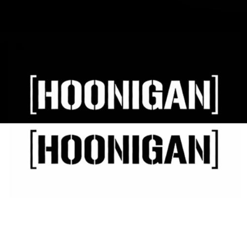 Reflectante Hoonigan Car Body Styling Sticker extraíble a prueba de agua