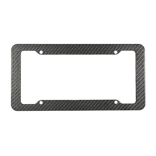 2pc Carbon Fiber Car License Plate Frames for 6