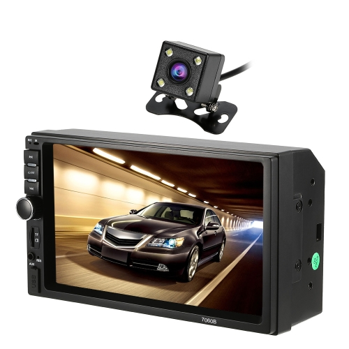 KKmoon 7 pouces voiture vidéo MP5 joueur 2-din voiture radio BT FM coloré touche de puissance