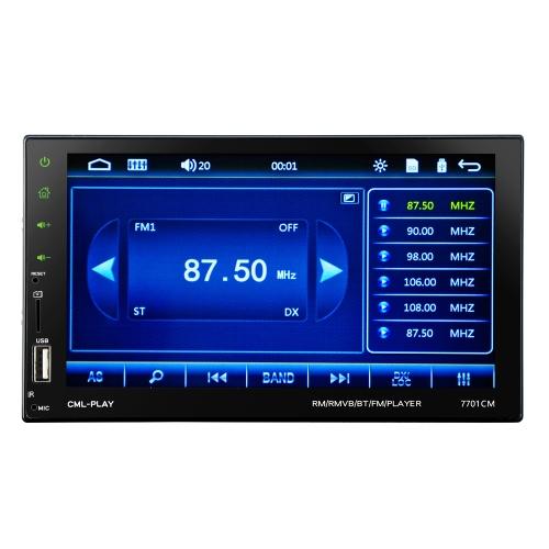 7inch écran tactile 2 Din BT voiture MP5 lecteur voiture radio audio stéréo FM RDS soutien miroir lien
