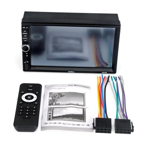 Lecteur multimédia stéréo sans fil de radio d'automobile universel 7in lecteur MP5 de voiture d'écran tactile 7018 PLUS