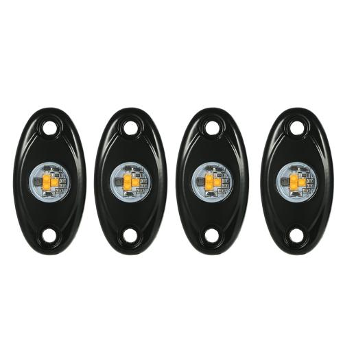 4pcs LED lumière de roche bateau imperméable à l'eau de bateau glow Trail Rig Rig lampes