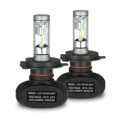 Kit de phares de voiture pour H1 S1 50000mW 2400000mcd 6000K blanc led phares ampoules paire HID
