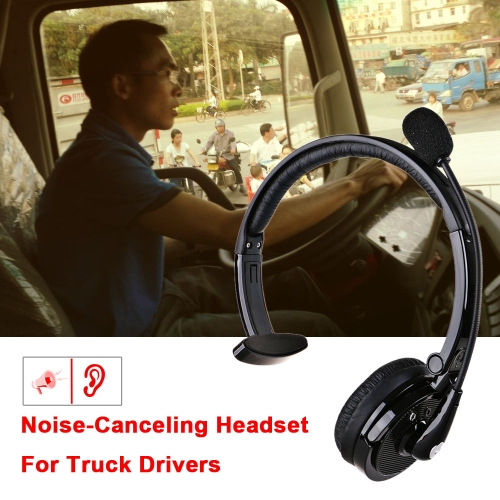 KKmoon Over The Head Boom Mic BT Noise-Canceling Headset For Trucker Drivers 2018 New