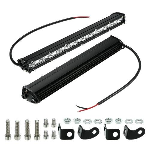 """13 """"36 W LED Barre de Lumière Mince Phare de Travail Faisceau Conduite Brouillard Lumière Éclairage routier pour Voiture Camion SUV Bateau Marine Jeep"""