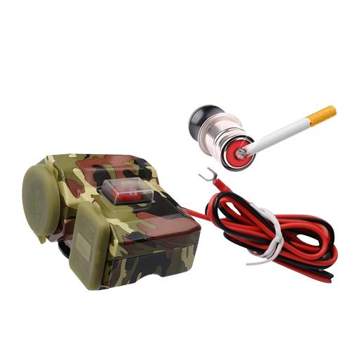 Waterproof USB Charging Socket Motorcycle Handlebar Clamp Power Adapter USB Charging System