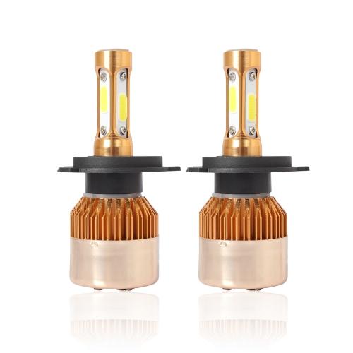 Car LED Headlight Bulb Gold Automobile Headlights Kits 6500K White Light 40W COB Chip Lamp Conversion H1/ H4/ H7/ H11