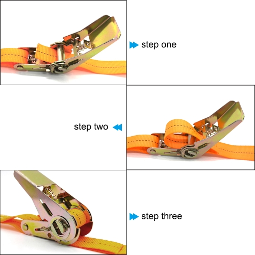 13 FT Porable Heavy Duty Tie Down Cargo Strap Luggage Lashing Strong Ratchet Strap Belt with Metal Buckle K6236-2