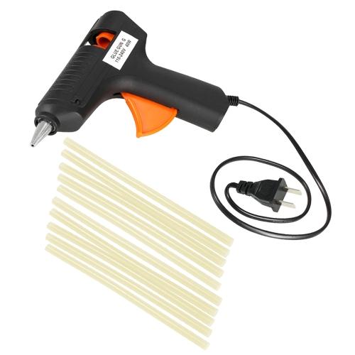 110-240V 40W Hot Melt Glue Gun Paintless Dent Repair Tool +10pcs Glue Sticks EU