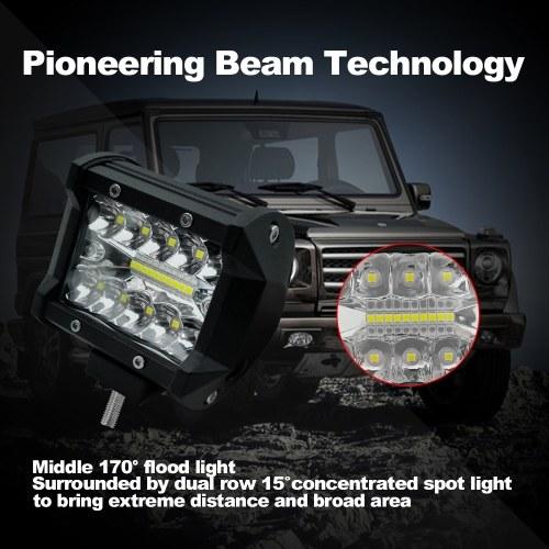 2Pcs 4inch 60W LED Work Light Bar Spot Flood Combo Beam Driving Fog Light Road Lighting for Car Truck Jeep UTV ATV SUV Boat Marine Motorcycle
