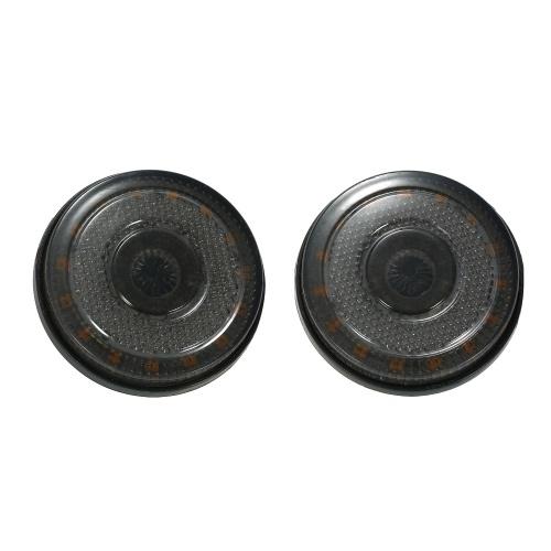 1 Paar 12 V 24LED Runde Seitenblinker Hinten Bremslicht Warnlicht für Auto Motorrad Lkw
