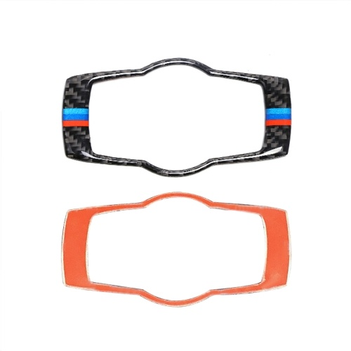 Carbon Fiber Interior Buttons Headlight Cover Trim Styling Car Stickers 3 Series Accessories