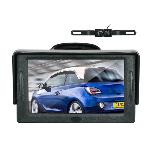 4.3 Inch TFT Color Display Sun Visor Car LCD Monitor Dashboard Screen Parking Monitor Suction Cup Type