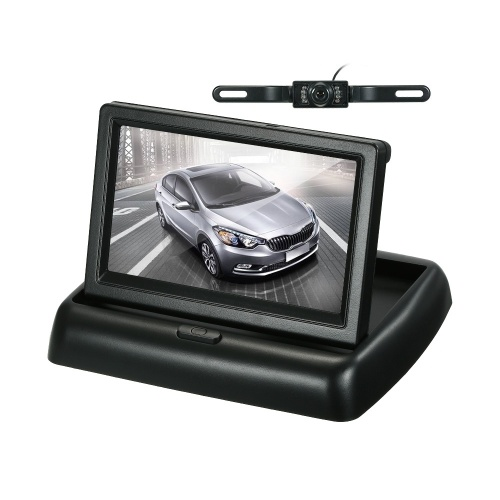 4,3-дюймовый цветной дисплей TFT Складной ЖК-монитор автомобиля Панель приборов Монитор парковки