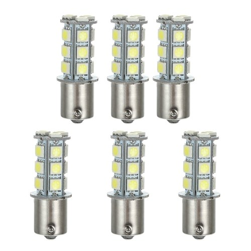 1156 18SMD 5050 White LED Turn Signal/Back Up Light Bulb Lamp,6 Packs