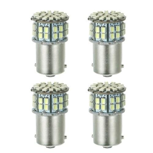 1156 50SMD 1206 Белый светодиодный индикатор поворота / задний фонарь, 4 упаковки
