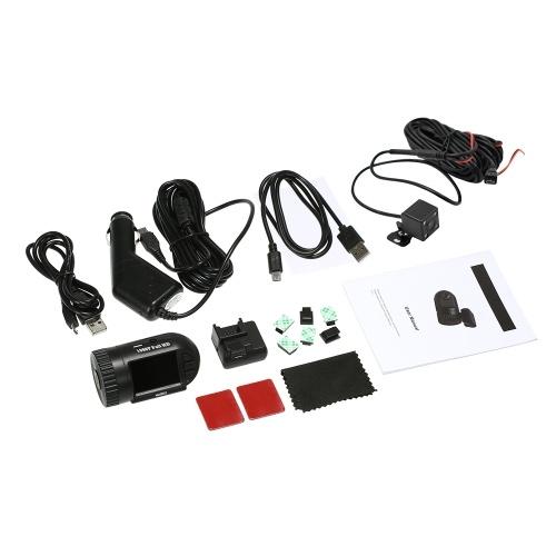 Super Mini 1080P HD Dash Cam 801S 1.5Inch Pantalla LCD Car DVR Soporte cámara de visión trasera Con Super Capacitor Sin batería