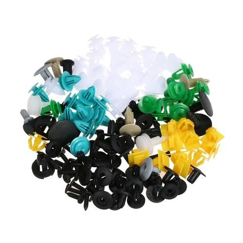 Clips de sujetador automático 100PCS Car Mixto Panel de corte de puerta universal Remache parachoques clip de plástico Clips de retención de coche Accesorios del coche para todo el coche