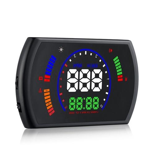 S600 Автомобильная HUD Display Head Up OBD II EUOBD Автоматическая система предупреждения о превышении скорости