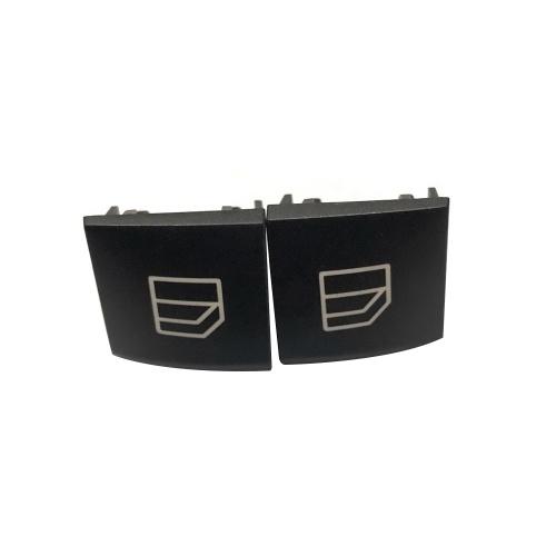 2Pcs Driver Window Switch Repair Button Cap Cover for Mercedes B Class W245 ML GL R Class