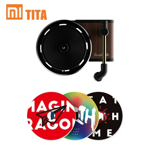 Xiaomi TITA Car Perfume Turntable Phonograph Auto Fragrance Air Freshener with 3PCS Aromatherapy Tablets