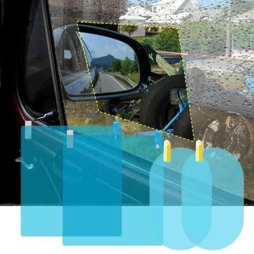 Зеркальная пленка заднего вида автомобиля Защитная пленка HD Anti-Fog Защита от царапин Водонепроницаемая для заднего вида и бокового стекла