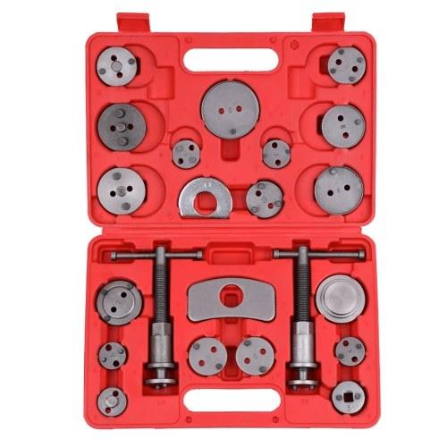 22 piezas Auto Universal freno de disco pinza de viento de coche almohadilla trasera compresor de pistón Kit de herramientas de reparación de garaje de automóvil con estuche