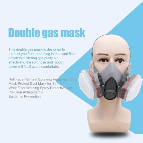 Half Face Painting Spraying Respirator Gas Mask Protect Dust Mask for Safety Work Filter Welding Spray Protective Anti Pollution Antiepidemic Epidemic Prevention 6200