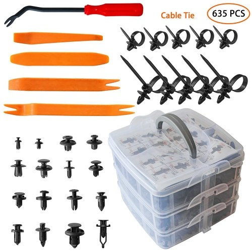 635 Pcs Car Body Kit Car Retainer Plastic Clips Fasteners 16 Most Popular Sizes