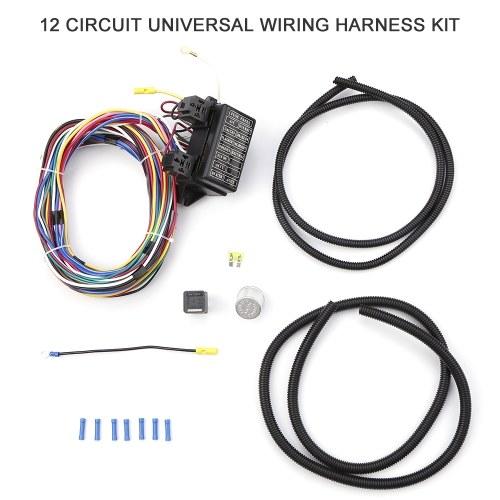 12 цепей универсальный комплект жгута проводов Hot Rod Street Rod XL провода Новая замена для Muscle Car