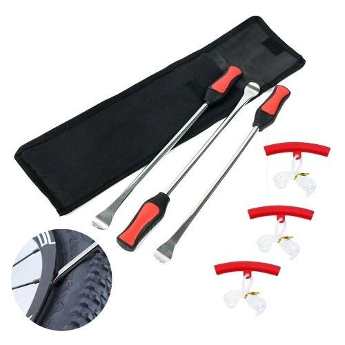 6 piezas Cucharas para neumáticos Palanca Herramientas de acero Protectores Kit de cambio de neumáticos para bicicletas y motocicletas