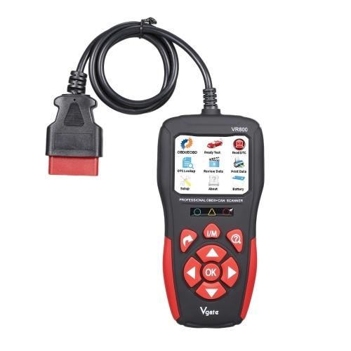 Universal OBD Code Lector de códigos de fallas Herramienta de diagnóstico automotriz Escáner de fallas del motor del automóvil Borrar / Restablecer códigos de fallas Escáner de diagnóstico VR800