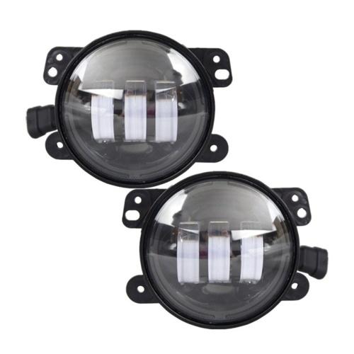 1 STÜCK 4 Zoll runder LED-Projektorscheinwerfer Superheller Scheinwerferersatz für Jeep Wrangler JK JKU CJ LJ TJ Hummer H1 H2