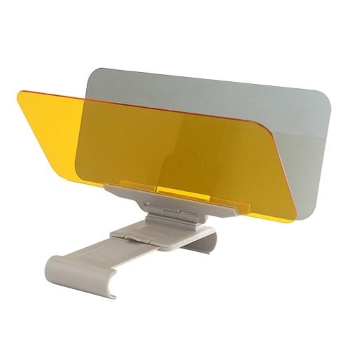 Visera de conducción antideslumbrante para coche, 2 en 1, visión nocturna diurna, visera de visión clara, espejos interiores antideslumbrantes