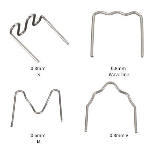 Универсальные плоские скобы для ремонта пластикового степлера, 400 шт. / Компл., 0,6-0,8 мм, инструмент для ремонта сварочного аппарата