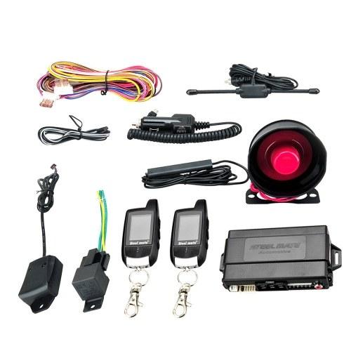 Steelmate 888E Двусторонняя автомобильная сигнализация с ЖК-дисплеем и системой безопасности без ключа
