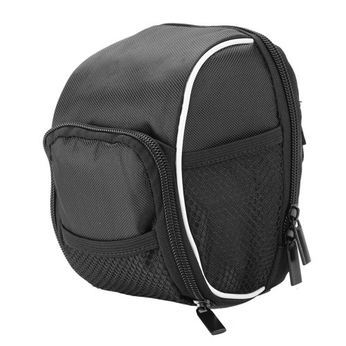 Bicycle Handlebar Bag with Rain Cover Rainproof Black Quick Release Bike Front Frame Tube Handlebar Bag Image