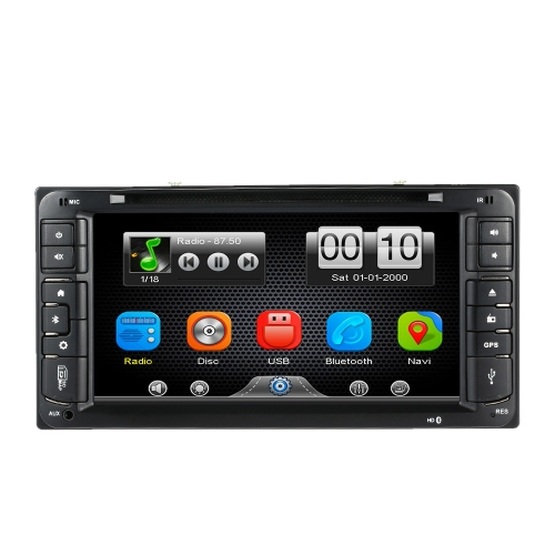 6.95 Inch HD Touch Screen 1080P Blue-ray Car DVD Player In Dash 2 Din Car PC Stereo Head Unit GPS Navigation+Bluetooth+Radio+Multimedia System for Toyota Universal